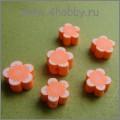 "Бусина ""hand made"" оранжевая"
