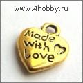 "Подвеска ""Made with Love"" (античное золото)"