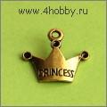 """Подвеска """"princess"""" (античное золото)"""